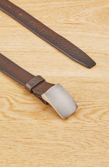 Cintura in pelle di vitello con fibia con ardiglione a scomparsa , Officina Slowear | Slowear
