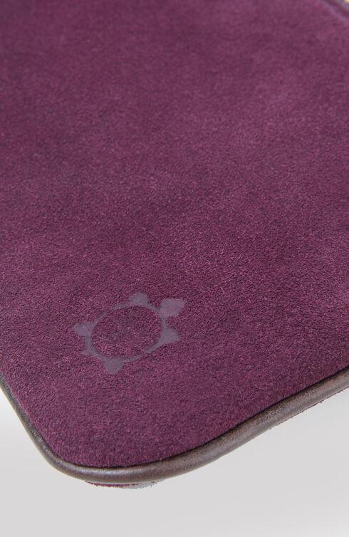 Suede document holder with dark purple leather details , Officina Slowear | Slowear