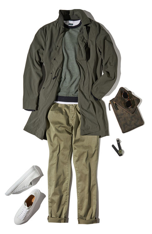 Stretch gabardine slim-fit trousers , Incotex - Slacks   Slowear