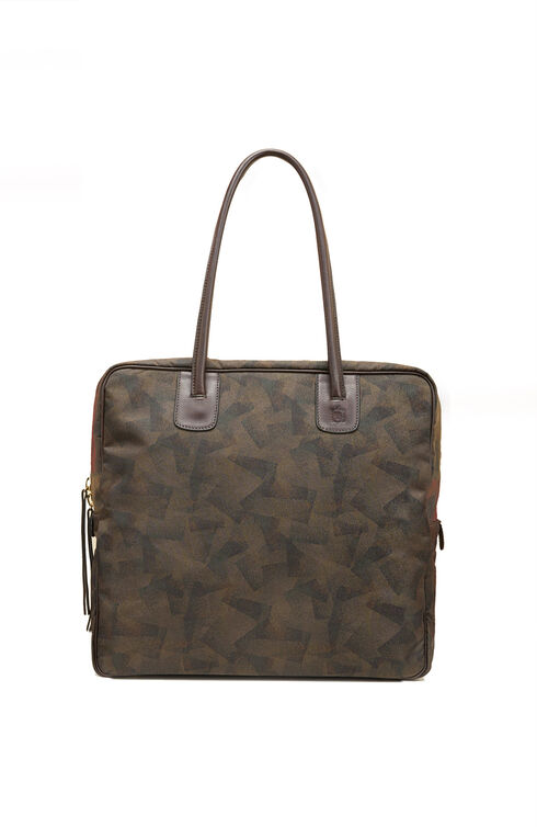 Square bag in military nylon and leather details , Officina Slowear | Slowear