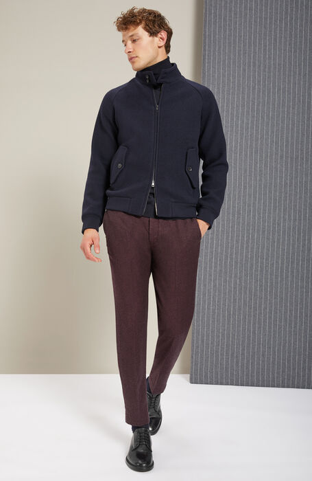 Tapered-fit trousers in Damier Flannel , Incotex - Verve | Slowear