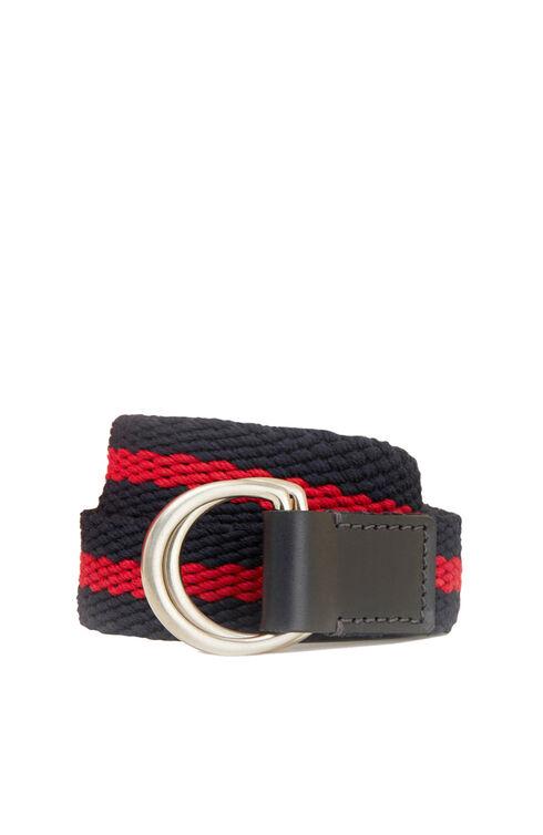 Belt in cotton with calfskin details , Officina Slowear | Slowear
