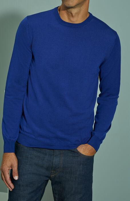 Blue Flexwool crewneck sweater , ZANONE Flexwool | Slowear
