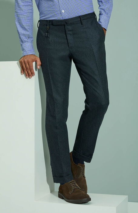 Carded flannel slim fit trousers , Incotex - Venezia 1951 | Slowear