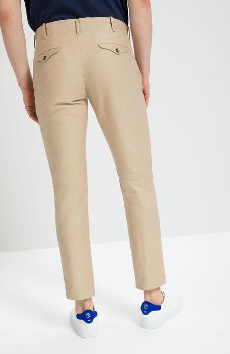 Beige Slim Fit Cotton Trousers , Incotex - Verve | Slowear