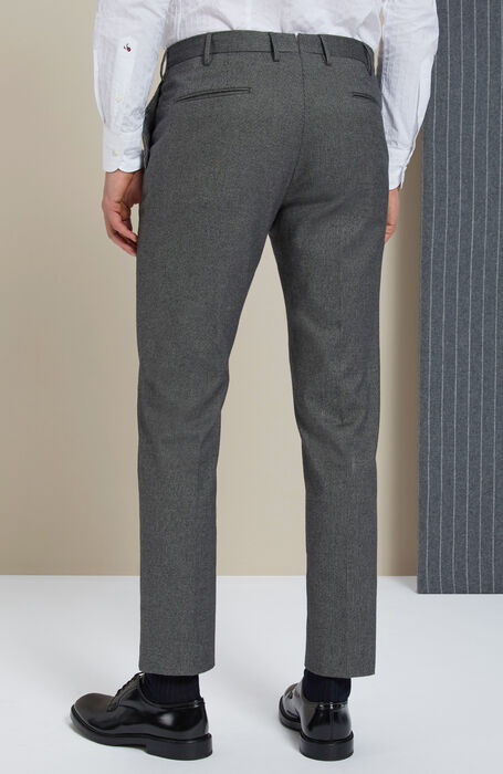 Slim-fit grey cashmere touch trousers , Incotex - Venezia 1951 | Slowear