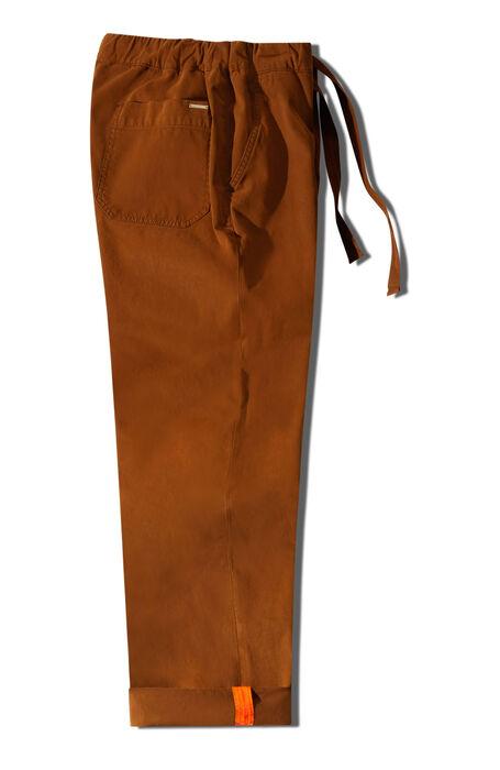 Regular fit leisure trousers in brown stretch gabardine , Incotex | Slowear