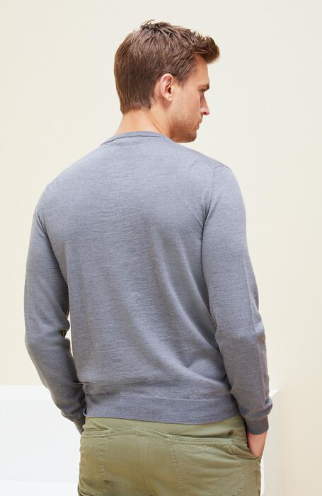 Grey Flexwool crewneck sweater , Zanone | Slowear