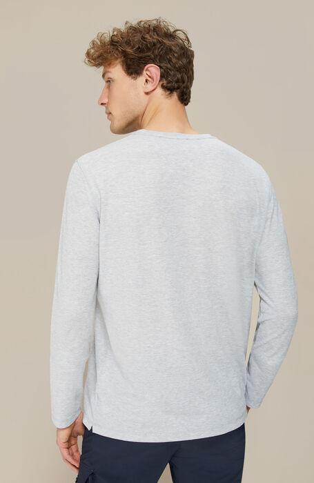 Grey IceCotton Long Sleeve T-Shirt , Zanone | Slowear