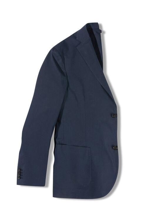 Single-breasted slim-fit unlined poplin cotton jacket , Montedoro | Slowear