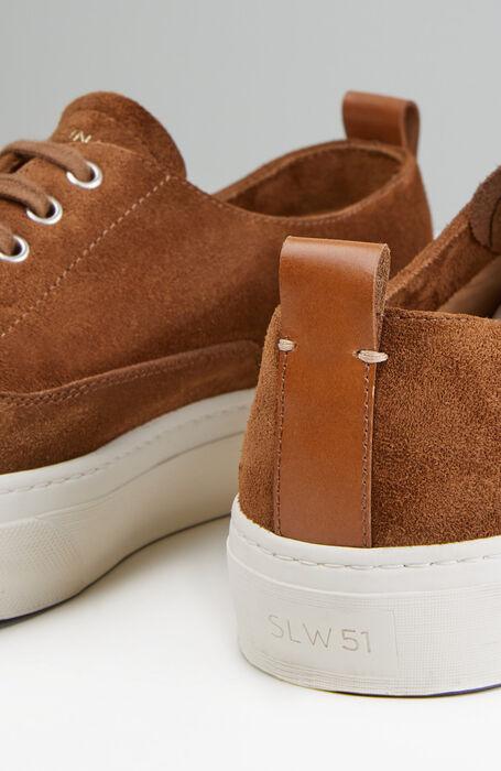Sneakers in brown suede leather , Officina Slowear | Slowear