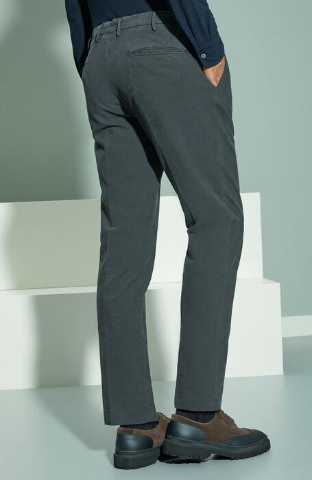 Slim-fit Doeskin anthracite grey trousers , Incotex - Venezia 1951 | Slowear