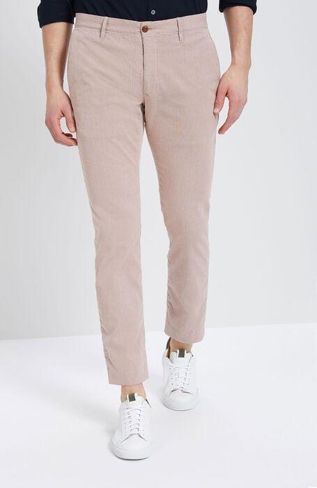 Pantalone Tight Fit in Cotone Stretch Rosso Bruciato , Incotex - Slacks   Slowear