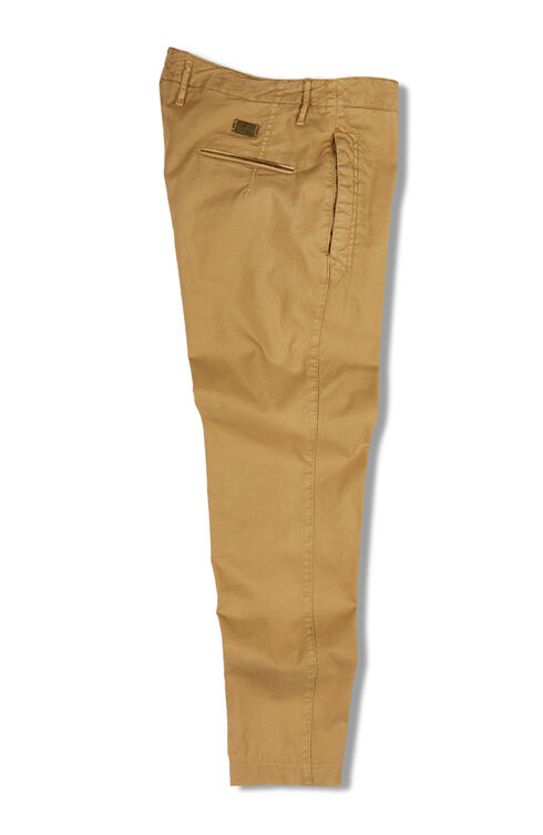 Tapered Fit Stretch Cotton Trousers , Incotex - Slacks | Slowear