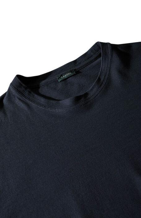 Blue short-sleeved IceCotton T-shirt , Zanone | Slowear
