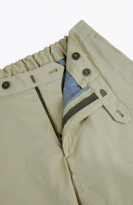 Green technical fabric slim fit trousers , Urban Traveler | Slowear