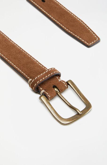 Suede belt with contrast stitching , Officina Slowear   Slowear