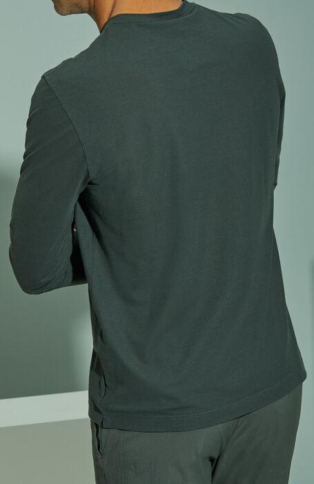 Green long-sleeved Ice Cotton T-shirt , ZANONE Icecotton   Slowear