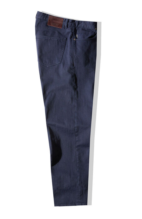 Pantalone cinque tasche regular fit in bull di cotone blu , Incotex - Slacks | Slowear