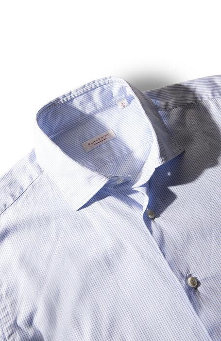 平織りコットンのスリムフィットフレンチネックシャツ , Glanshirt | Slowear