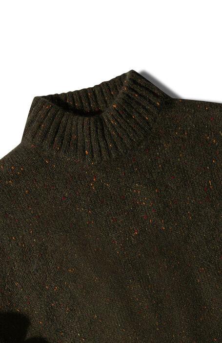 Green alpaca wool mock turtleneck sweater , Zanone | Slowear