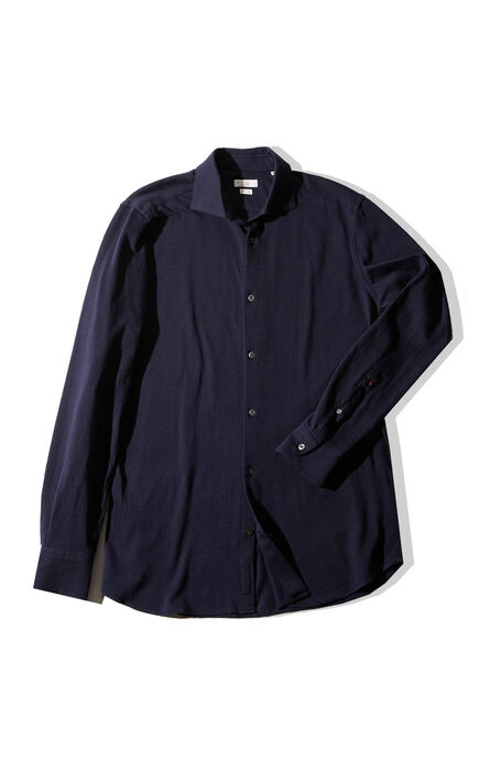 Slim fit cotton and cashmere shirt with French collar , Glanshirt | Slowear