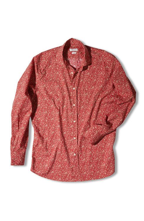 Slim-fit shirt with classic collar in poplin cotton , Glanshirt | Slowear