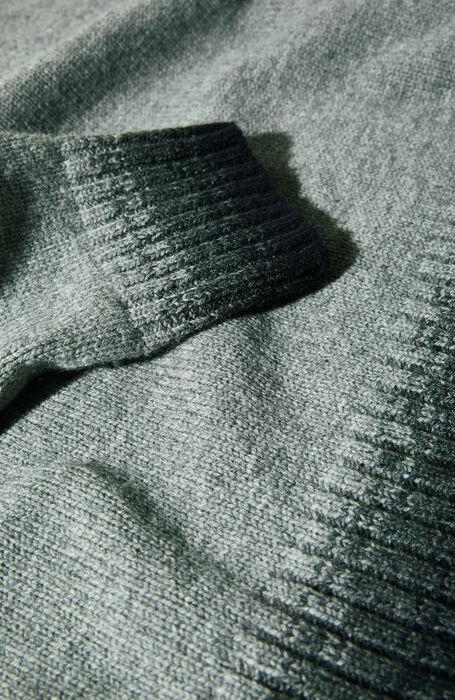 Grey V-neck lambswool sweater with contrast detail , Zanone | Slowear