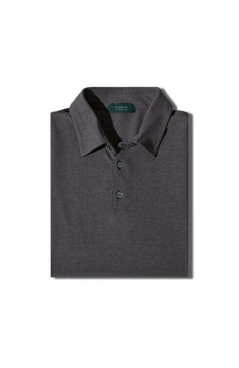 Short-sleeve slim-fit Ice Cotton polo shirt , ZANONE Icecotton | Slowear