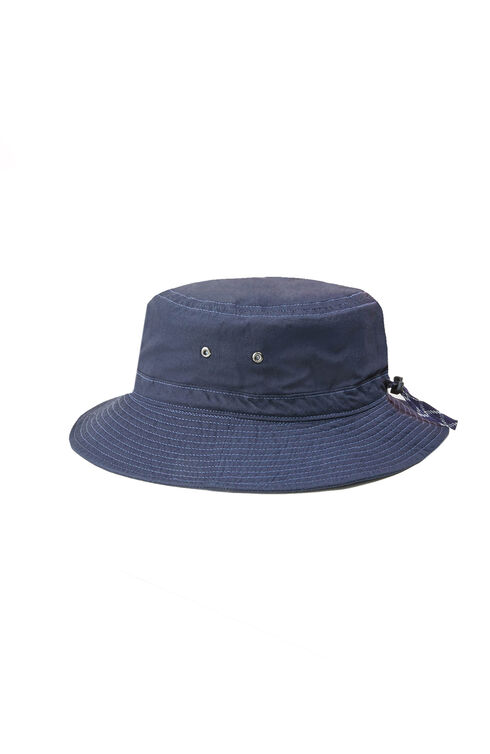 Bucket hat in blue ripstop , Cableami   Slowear