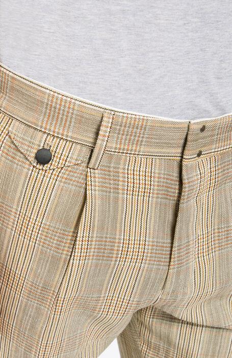 Slim Fit Glen Plaid Cotton/Linen Trousers , Incotex - Verve | Slowear