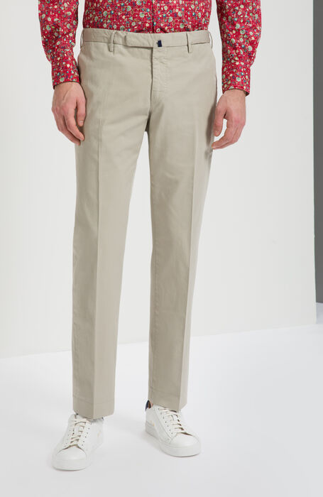 "Pantalone slim fit in cotone stretch ""Royal Batavia"" , Incotex - Venezia 1951 