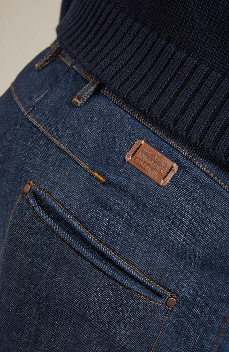 Tapered-fit trousers in stretch denim , Incotex - Slacks   Slowear