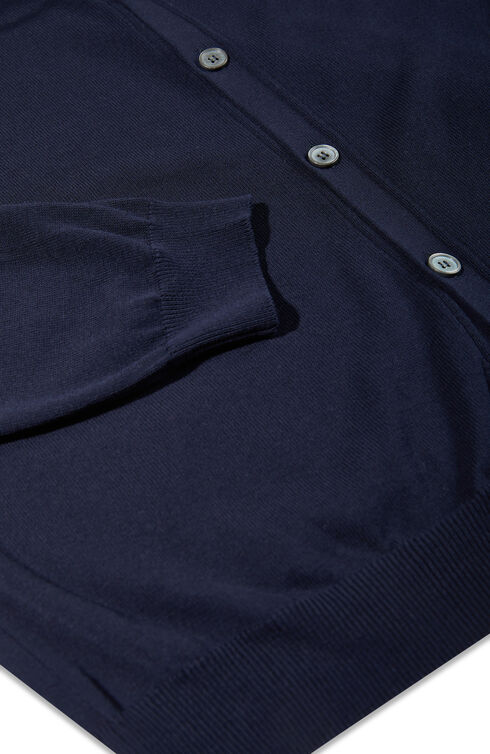 Blue Crepe Cotton Cardigan , Zanone | Slowear