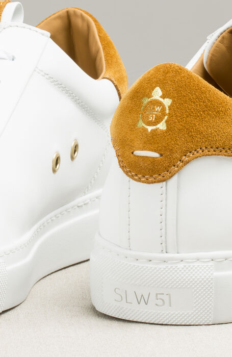 White Leather and Suede Sneakers , Officina Slowear | Slowear