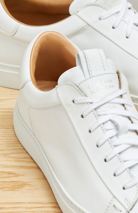 Leather sneakers in soft calf skin. Hand-crafted in Italy. , Officina Slowear | Slowear