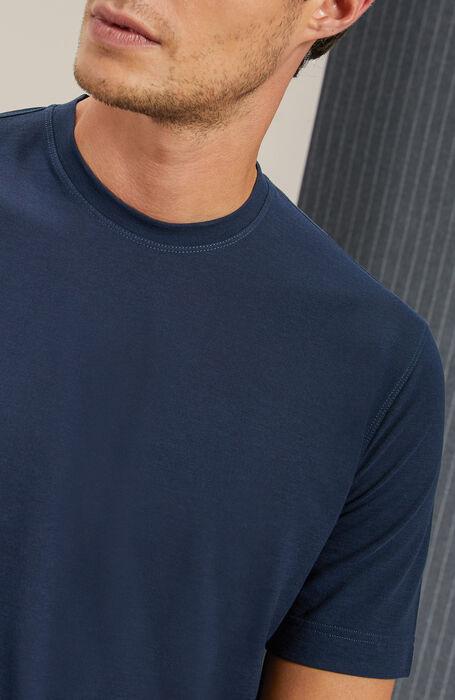 T-shirt manica corta in IceCotton blu , Zanone | Slowear