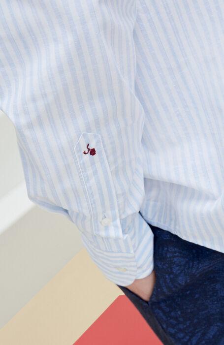 Regular Fit Cotton and Silk Shirt with Classic Collar , Glanshirt | Slowear