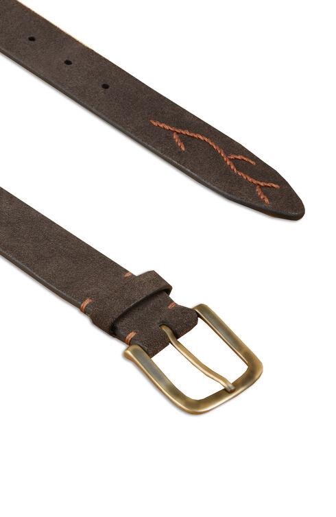 Embroidered suede calfskin belt , Officina Slowear | Slowear
