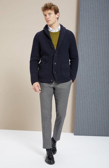 Slim-fit grey cashmere touch trousers , Incotex - Venezia 1951   Slowear