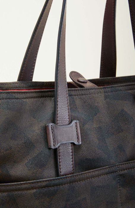 Tote bag in military nylon with leather details , Officina Slowear | Slowear