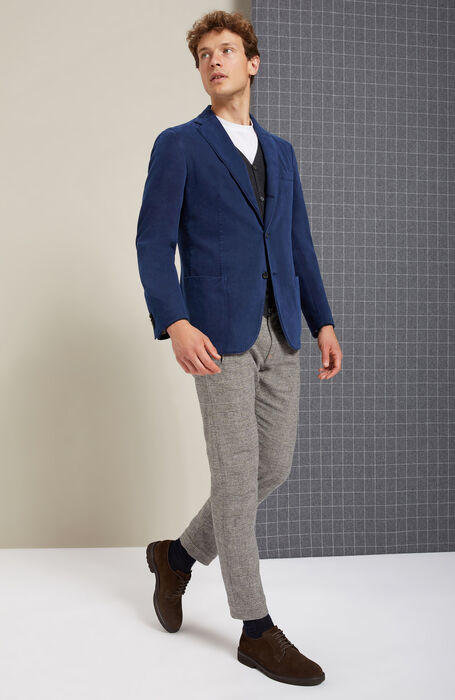 """Stretch """"wool effect"""" tapered-fit trousers , Incotex - Cinque Tasche 