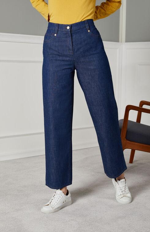 Five-pocket mom fit denim trousers , Slowear Incotex | Slowear