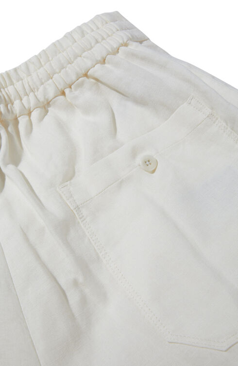 Linen carrot-fit trousers with drawstring and back waist elastic , Incotex - Venezia 1951 | Slowear