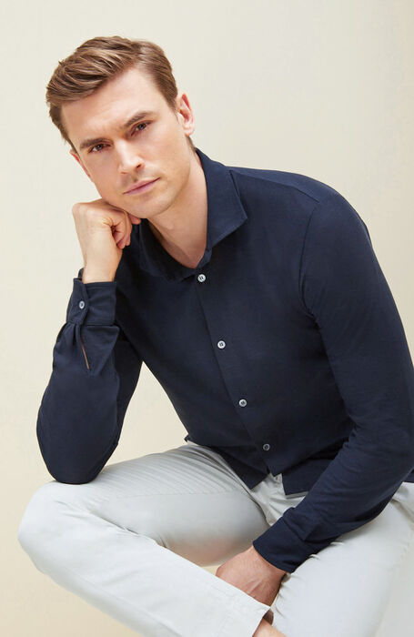 Blue Ice Cotton shirt , Zanone | Slowear