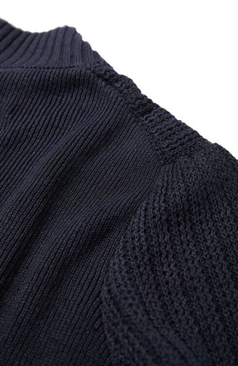 Regular-fit double knit linen and cotton Chioto sweater , Zanone | Slowear