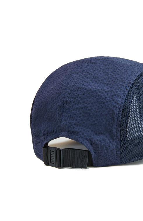 Baseball hat in seersucker and blue mesh , Cableami   Slowear