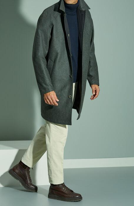 Car coat reversibile in lana e Gore-Tex® Infinium Windstopper grigio scuro , Norse Projects   Slowear