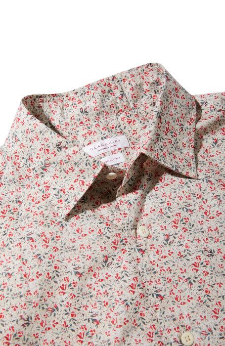 Floral print regular fit classic collar cotton shirt , Glanshirt | Slowear