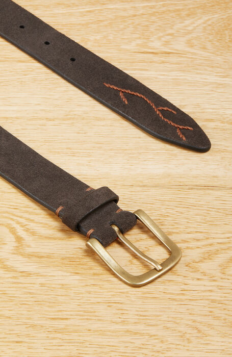 Embroidered suede calfskin belt , Officina Slowear | Slowear